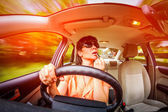Driving a car — Foto Stock