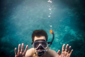 Snorkeler — Stock Photo