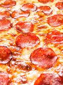 Pepperoni pizza closeup — Stock Photo