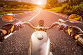 Biker First-person view — Stock Photo