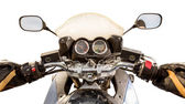 Biker First-person view isolated — Fotografia Stock