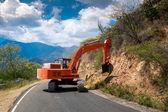 Excavator repair the road. — Stock Photo