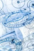 Technical drawings — Stock Photo