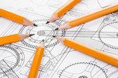 Crayon et dessin de détail — Photo