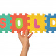 Word sold — Stock Photo