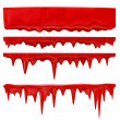 Blood or red paint - Stock Photo