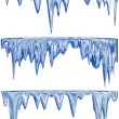 Melting blue icicles — Stock Photo