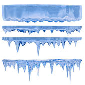 Blue icicles — Stock Photo