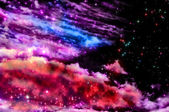 Blue and magenta Northern Lights — Stock Photo