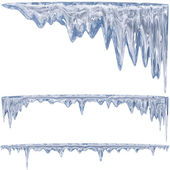 Blauwe ijspegels — Stockfoto