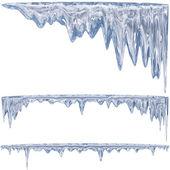 Mavi buz sarkıtları — Stok fotoğraf