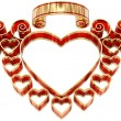 Stock Photo: Beautiful twisted frame with hearts and curls