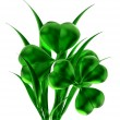 Shamrock as symbol of St. Patrick's day — Stok fotoğraf