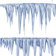 Blue thawing icicles — Foto de Stock
