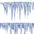 Blue thawing icicles — Stockfoto