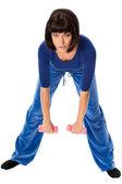 упражнения с гантелями — Стоковое фото