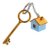 Golden keys from the house with charm — Stock Photo