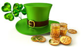 Symbols of Patrick day — Stock Photo