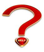 Pomoc dla najbardziej ważne pytanie — Zdjęcie stockowe