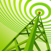 Digital transmitter sends signals from high tower — Stock Photo