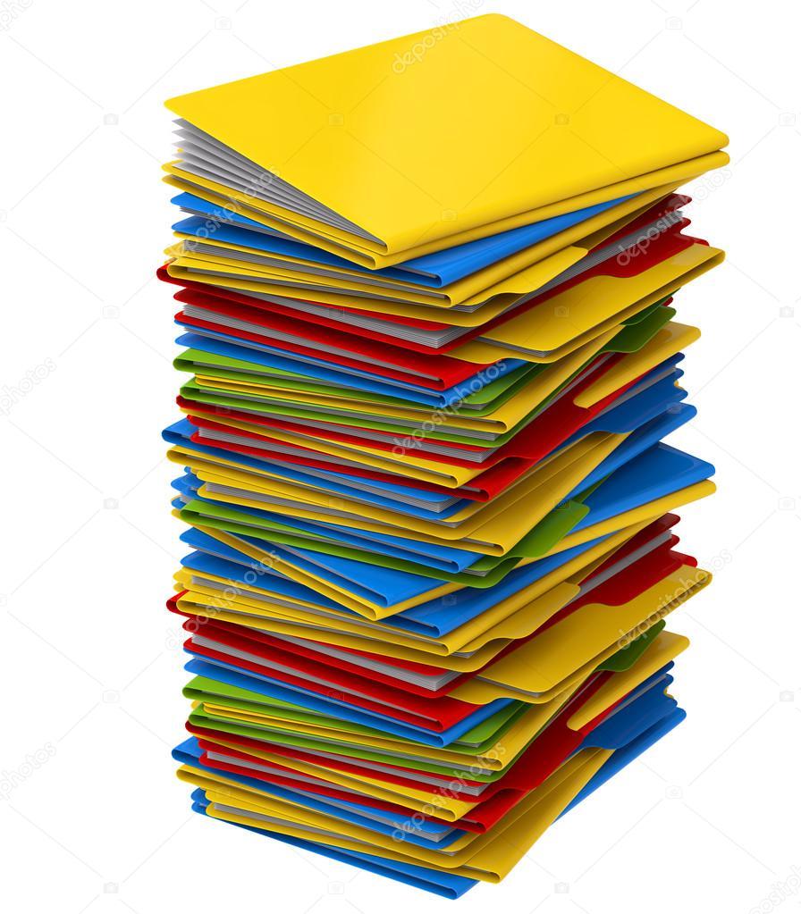 une pile de dossiers multicolores avec des documents photographie merzavka 12807775. Black Bedroom Furniture Sets. Home Design Ideas