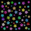 Glamour colorful star — ストック写真