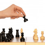 Playing chess — Stock Photo