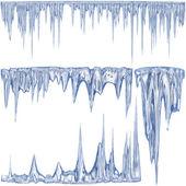 Kış buz sarkıtları — Stok fotoğraf