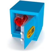 Heart in the safe — Stock Photo