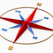 Wind rose symbol for navigation — Stock Photo