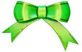 Arco verde satén regalo — Foto de Stock