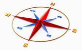 Símbolo de rosa dos ventos para a navegação — Foto Stock