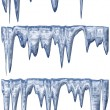 Stock Photo: Thawing icicles