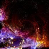 Nascimento de uma nova nebulosa espiral — Foto Stock