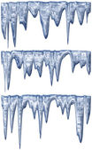 Thawing icicles — Stock Photo