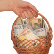 Stock Photo: Dual currency basket