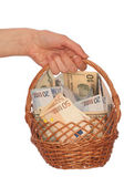 Dual currency basket — Stock Photo