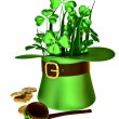 Symbols of Patrick day - Stock Photo