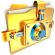Folder with golden lock — Stock Photo #13382259