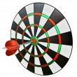 Dart in the center of darts — Foto Stock