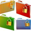 Постер, плакат: Set of folders with locks