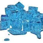 Stylized melting ice cubes — Stock Photo