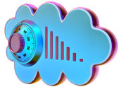 Cloud computing and storage security concept — Stock Photo