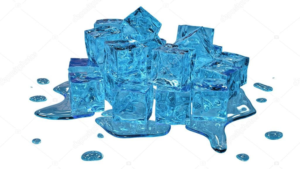 Stylized melting ice cubes on white background — Stock Photo #13671699