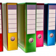 Colored folders stores important documents — Stock Photo