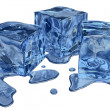 Blue ice - Stock Photo