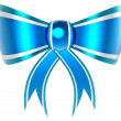 Blue with silver gift bow - Foto de Stock