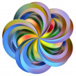 Rainbow  flower - Foto de Stock