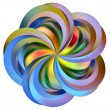 Rainbow  flower - Stock fotografie
