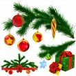 set kerstboom fir takken — Stockfoto #14067637